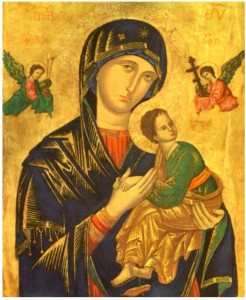 Икона Матери Божьей Неустанной Помощи